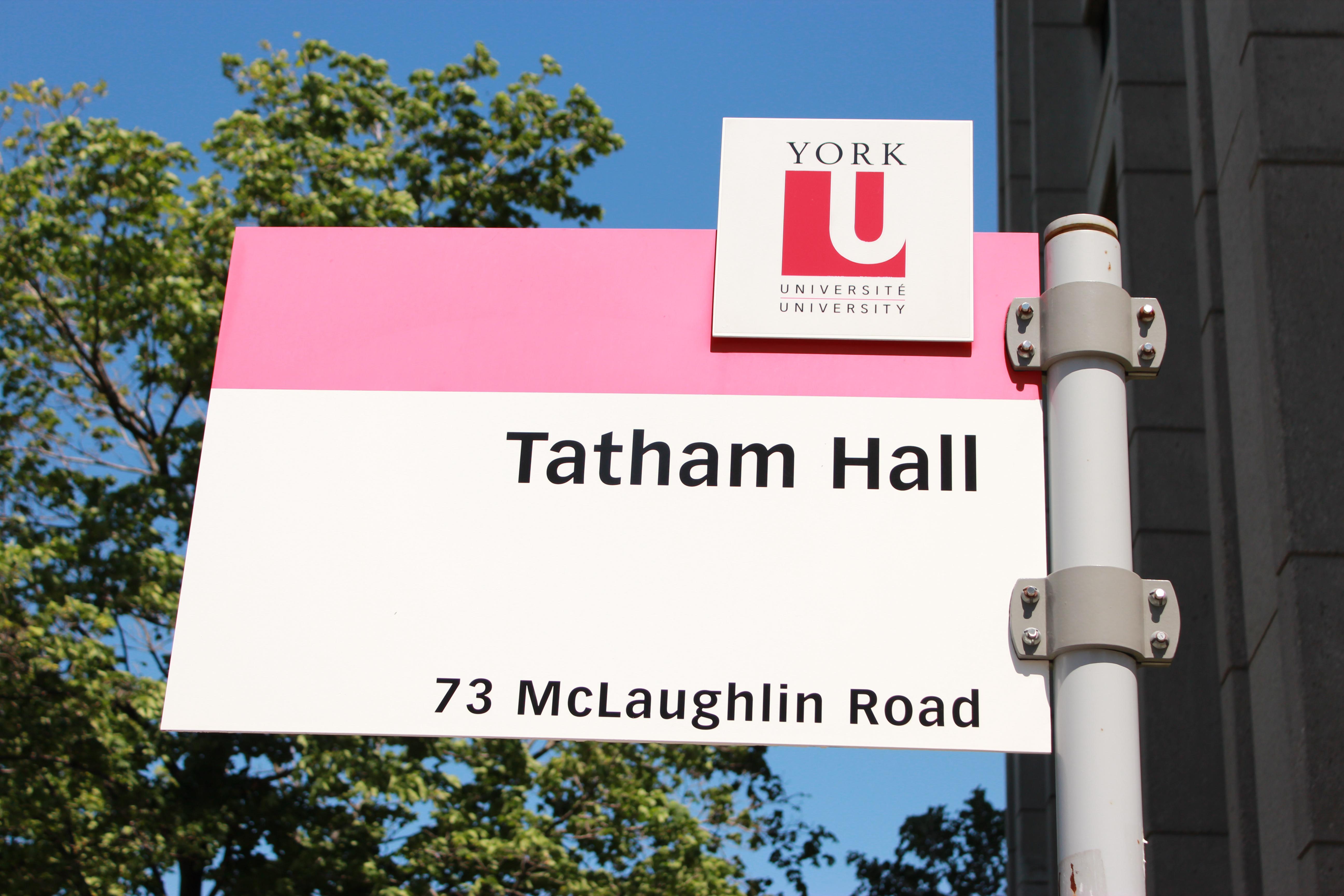 Tatham Hall sign