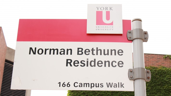 Bethune Residence sign