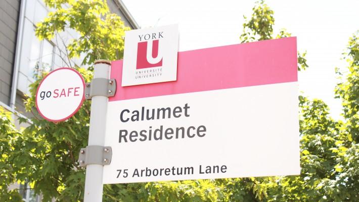 Calumet Residence sign