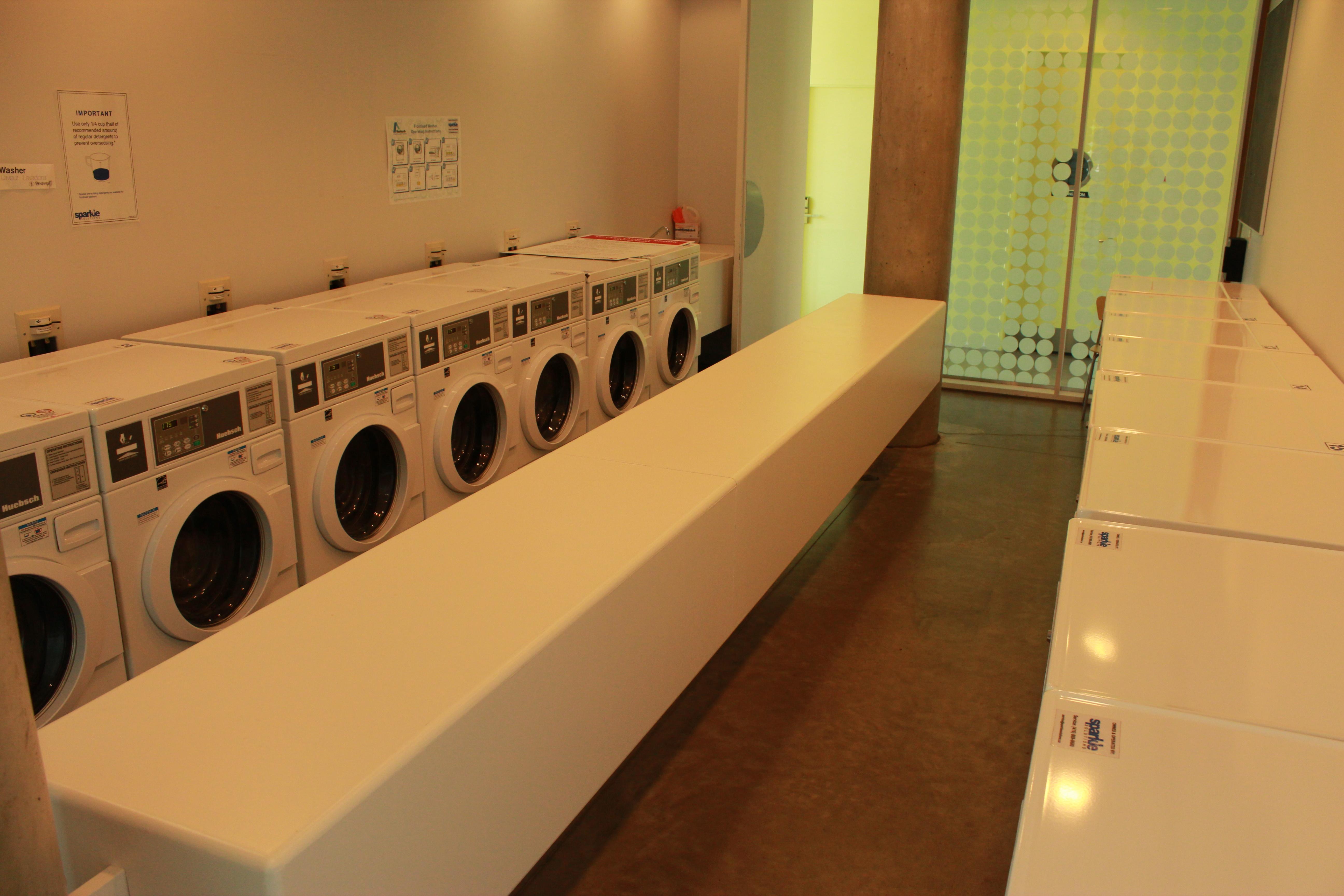 Pond interior, laundry Room