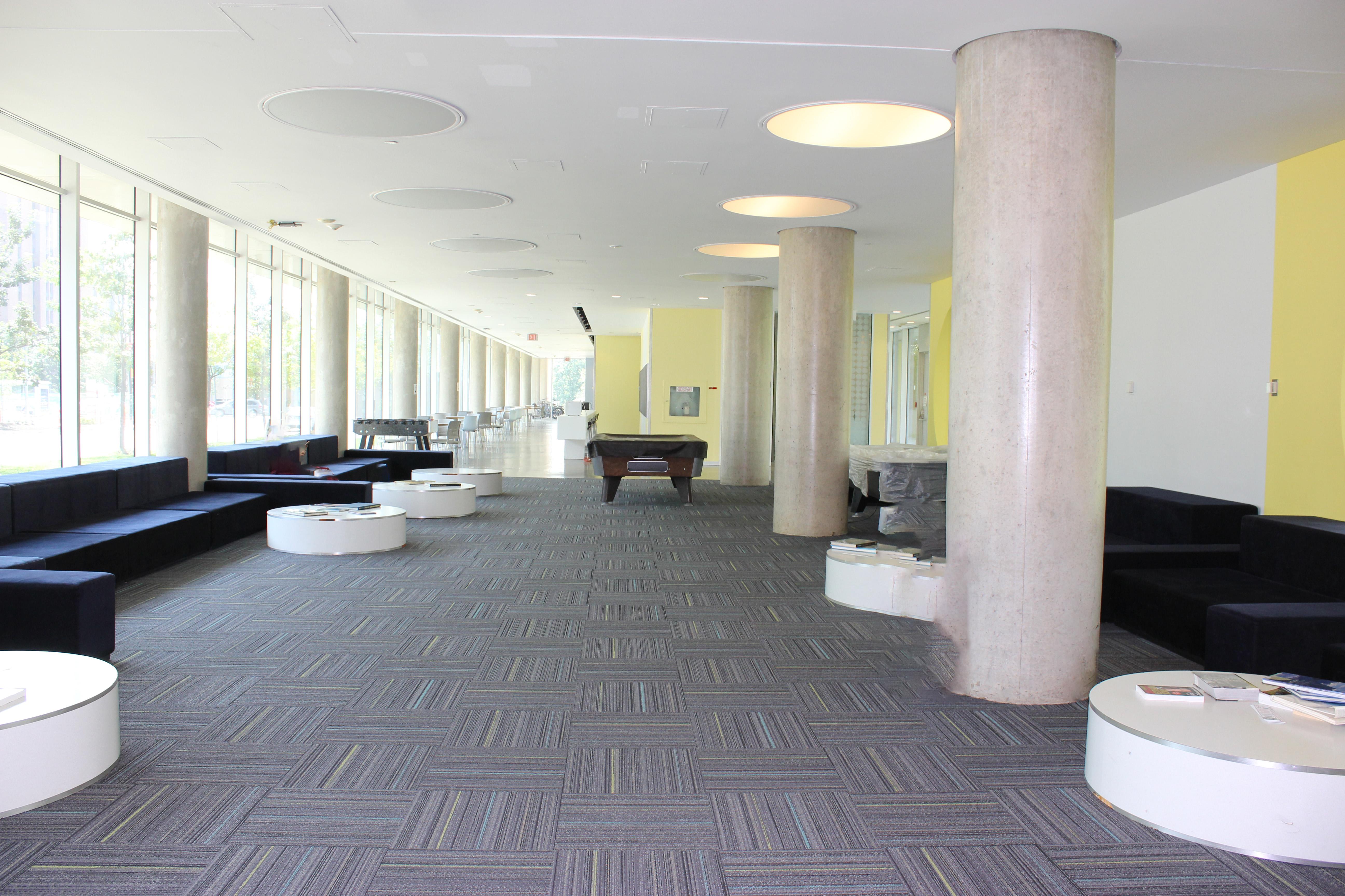 Pond interior, lobby area