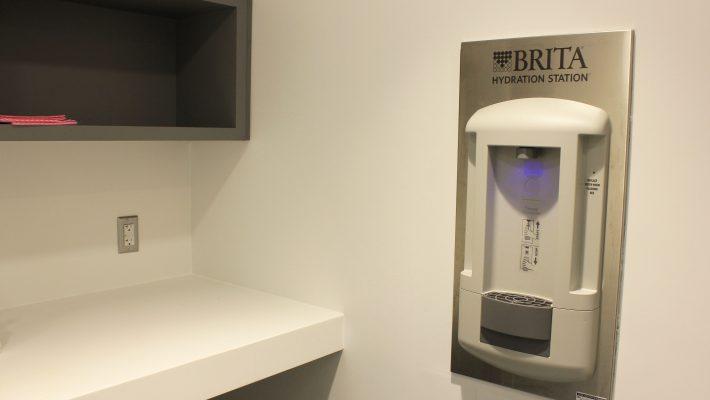 image of a water station at tatham kitchen