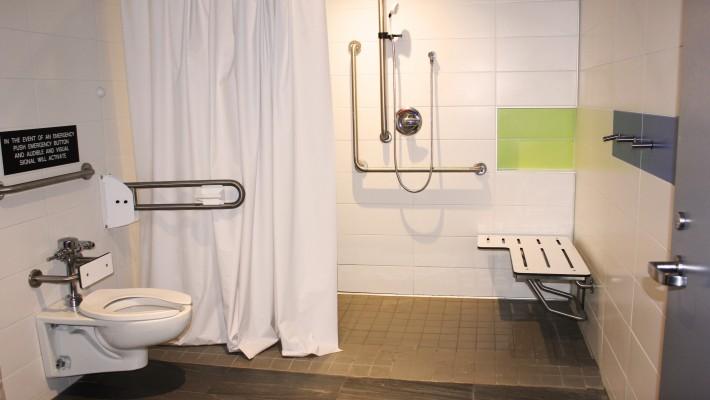 Vanier Residence accesible washroom
