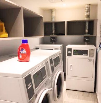 Winters laundry room