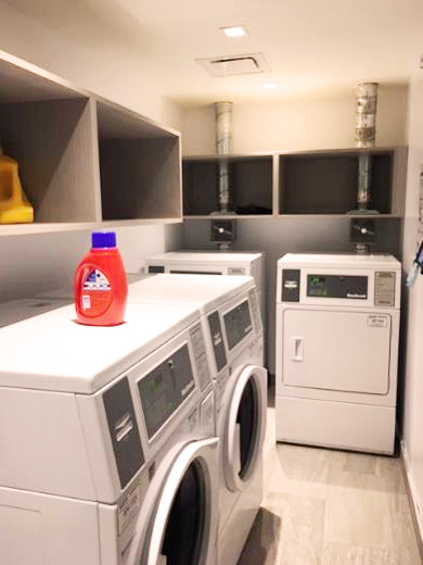 Winters laundry room