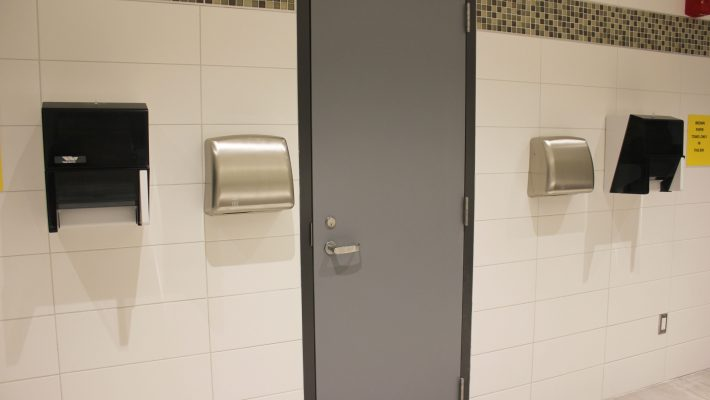 image of winters hand dryers in common washroom