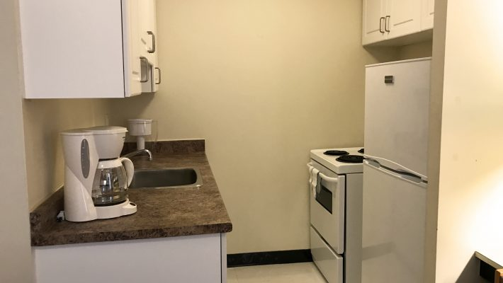 image of bachelor apartment kitchen