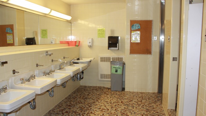 Hilliard washroom interior