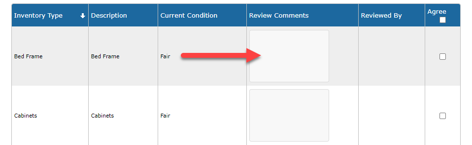 Image to show comments box.